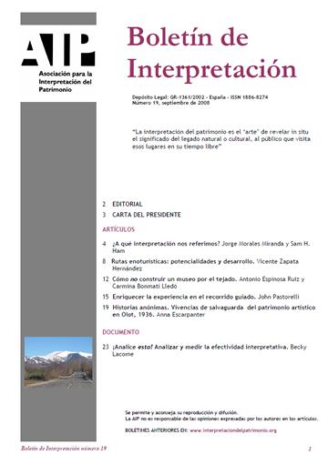 Boletín de interpretación 19