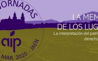 XIX Jornadas AIP (Jaén, 2020): interpretación del patrimonio y paisaje